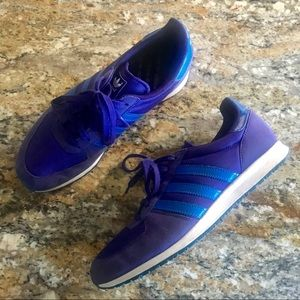 Adidas | Purple Blue Classic Lace Up Sneakers 8.5